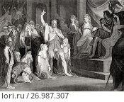 Купить «Caractacus at the Tribunal of Claudius at Rome, Italy c. 51 A. D. Caratacus, c. 10 A. D. - after 50 A. D. First-century British chieftain of the Catuvellauni...», фото № 26987307, снято 12 ноября 2019 г. (c) age Fotostock / Фотобанк Лори