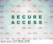 Купить «Privacy concept: Secure Access on Digital Data Paper background», фото № 27003379, снято 9 февраля 2017 г. (c) easy Fotostock / Фотобанк Лори