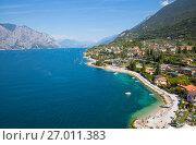 Купить «Озеро Гарда. Мальчезине. Италия», фото № 27011383, снято 5 сентября 2017 г. (c) Сергей Афанасьев / Фотобанк Лори