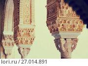 Detail of Gilded Room (Cuarto dorado) at Alhambra (2016 год). Стоковое фото, фотограф Яков Филимонов / Фотобанк Лори