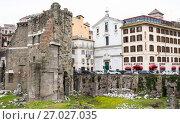 Купить «Excavations in the historical part of Rome, Italy», фото № 27027035, снято 21 марта 2015 г. (c) Papoyan Irina / Фотобанк Лори