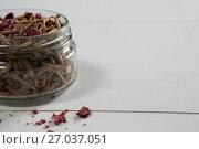 Cereal bran stick in glass jar. Стоковое фото, агентство Wavebreak Media / Фотобанк Лори