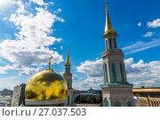 Купить «Dome of Cathedral Mosque in Moscow, Russia», фото № 27037503, снято 24 июля 2017 г. (c) Володина Ольга / Фотобанк Лори