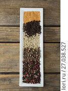 Various type of spices arranged in trayc. Стоковое фото, агентство Wavebreak Media / Фотобанк Лори