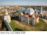 Купить «View from the bell tower of Borisoglebsky Monastery, Torzhok, Russia», фото № 27060539, снято 1 мая 2016 г. (c) Юлия Бабкина / Фотобанк Лори