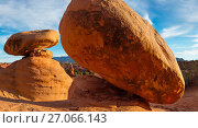 Купить «Devils Garden, Grand Staircase-Escalante National Monument, eroded hoodoo sandstone formations. Utah», фото № 27066143, снято 15 декабря 2017 г. (c) Nature Picture Library / Фотобанк Лори