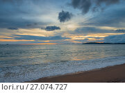 Купить «sunset over the Andaman Sea beautiful landscape», фото № 27074727, снято 8 ноября 2016 г. (c) Константин Лабунский / Фотобанк Лори