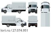 Купить «Truck template isolated on white», иллюстрация № 27074951 (c) Александр Володин / Фотобанк Лори