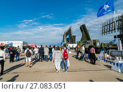 Купить «Moscow, Russia - July 24. 2017. Self-propelled radar systems at International Aviation and Space salon MAKS-2015», фото № 27083051, снято 22 июля 2017 г. (c) Володина Ольга / Фотобанк Лори