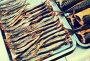 Smoked mackerel and other fish in food store, фото № 27115395, снято 20 октября 2017 г. (c) Яков Филимонов / Фотобанк Лори