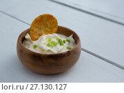 Купить «Mexican dip on table», фото № 27130127, снято 22 августа 2017 г. (c) Wavebreak Media / Фотобанк Лори
