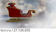 Купить «Cloudy sky transition of Santa's sleigh», фото № 27130655, снято 27 апреля 2018 г. (c) Wavebreak Media / Фотобанк Лори