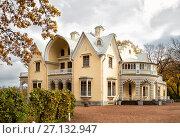 Дворец-коттедж в парке Александрия, Петергоф, фото № 27132947, снято 20 октября 2017 г. (c) Юлия Бабкина / Фотобанк Лори