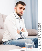 Купить «Male is having problems», фото № 27133251, снято 5 марта 2017 г. (c) Яков Филимонов / Фотобанк Лори