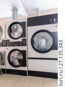 Купить «Automatic laundry ironing line», фото № 27135343, снято 14 сентября 2017 г. (c) Евгений Ткачёв / Фотобанк Лори