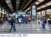 Купить «Central Railway Station», фото № 27135707, снято 10 февраля 2017 г. (c) Яков Филимонов / Фотобанк Лори