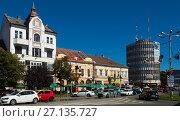 Купить «Streets of Satu Mare in Romania», фото № 27135727, снято 14 сентября 2017 г. (c) Яков Филимонов / Фотобанк Лори