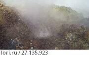 Купить «Дачные термальные источники на Камчатке», видеоролик № 27135923, снято 22 октября 2017 г. (c) А. А. Пирагис / Фотобанк Лори