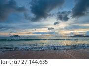 Купить «A gloomy sky over the Andaman Sea at sunset hours», фото № 27144635, снято 8 ноября 2016 г. (c) Константин Лабунский / Фотобанк Лори