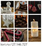 Купить «Christmas candy and decoration», фото № 27146727, снято 17 ноября 2018 г. (c) Wavebreak Media / Фотобанк Лори
