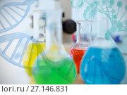 Купить «Composite image of multiple color chemical », фото № 27146831, снято 21 февраля 2018 г. (c) Wavebreak Media / Фотобанк Лори