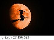 Moon and Halloween. Стоковая иллюстрация, иллюстратор Галина Голубь / Фотобанк Лори
