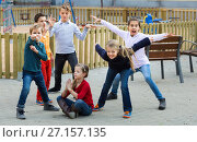 Купить «Acting game with children making performance», фото № 27157135, снято 13 июля 2020 г. (c) Яков Филимонов / Фотобанк Лори