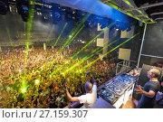 Купить «DJ Afrojack performing with MC Ambush at music festival Starbeach in Hersonissos, Crete, Greece, on 02. August 2017», фото № 27159307, снято 2 августа 2017 г. (c) age Fotostock / Фотобанк Лори