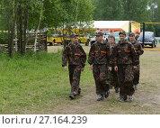 Купить «Воспитанники военно-патриотического лагеря», фото № 27164239, снято 20 июня 2015 г. (c) Free Wind / Фотобанк Лори