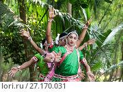 Купить «Young boys performing Gotipua dance, the traditional folk dance of Odisha inspired by Hindu gods, Lords Jagannath and Krishna, Odisha, India, Asia», фото № 27170031, снято 13 января 2017 г. (c) age Fotostock / Фотобанк Лори