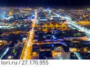 Купить «Панорама ночного Екатеринбурга», фото № 27170955, снято 21 июля 2019 г. (c) Евгений Ткачёв / Фотобанк Лори