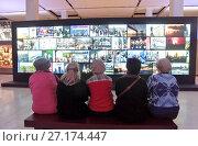 Купить «На выставке фотографий «Главные кадры» в Центральном Манеже. Проект ТАСС», эксклюзивное фото № 27174447, снято 3 ноября 2017 г. (c) Илюхина Наталья / Фотобанк Лори