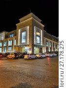 Купить «Торговый центр Синема Плюс. Ночной вид. Баку. Азербайджан», фото № 27178275, снято 22 сентября 2016 г. (c) Евгений Ткачёв / Фотобанк Лори
