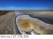 Купить «Красивый пейзаж. Соленые озера в Крыму», фото № 27178355, снято 2 августа 2017 г. (c) Яна Королёва / Фотобанк Лори