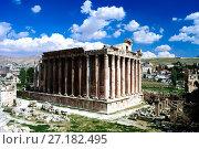 Ruins of Bacchus temple in Baalbek, Bekaa valley Lebanon (2012 год). Стоковое фото, фотограф Сергей Майоров / Фотобанк Лори