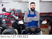 Купить «Work offers the best selection of motorcycles», фото № 27185823, снято 21 сентября 2019 г. (c) Яков Филимонов / Фотобанк Лори
