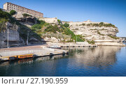 Купить «Main port of Bonifacio town, Corsica island», фото № 27190959, снято 3 июля 2015 г. (c) EugeneSergeev / Фотобанк Лори
