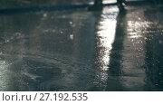 Купить «Washing car in workshop - drops of water on concrete», видеоролик № 27192535, снято 19 января 2018 г. (c) Константин Шишкин / Фотобанк Лори