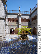Купить «Cloisters surrounding the inner court of the monastery. Pena Palace. Sintra. Portugal», фото № 27195227, снято 3 июля 2016 г. (c) Serg Zastavkin / Фотобанк Лори