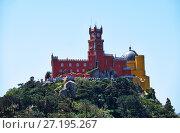 Купить «The Pena Palace. Sintra. Portugal», фото № 27195267, снято 3 июля 2016 г. (c) Serg Zastavkin / Фотобанк Лори