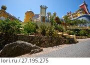 Купить «The Pena Palace. Sintra. Portugal», фото № 27195275, снято 3 июля 2016 г. (c) Serg Zastavkin / Фотобанк Лори