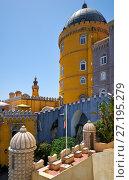 Купить «The Pena Palace. Sintra. Portugal», фото № 27195279, снято 3 июля 2016 г. (c) Serg Zastavkin / Фотобанк Лори