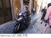 Купить «Transportation italy traffic typical rome», фото № 27195775, снято 7 ноября 2016 г. (c) Евгений Ткачёв / Фотобанк Лори