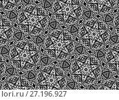 Орнамент с элементами черного и белого цветов. Стоковая иллюстрация, иллюстратор Александр Фролов / Фотобанк Лори