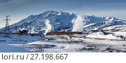 Купить «Мутновская геотермальная электростанция на Камчатке», фото № 27198667, снято 22 октября 2017 г. (c) А. А. Пирагис / Фотобанк Лори