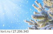 Купить «Зимний пейзаж», фото № 27206343, снято 15 ноября 2017 г. (c) Икан Леонид / Фотобанк Лори