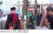 Купить «Ingush trained on soft swords», видеоролик № 27207823, снято 4 ноября 2017 г. (c) Потийко Сергей / Фотобанк Лори