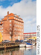 Купить «Quay of the Christianshavn canals in Copenhagen with boats, plea», фото № 27209275, снято 10 марта 2012 г. (c) Ольга Визави / Фотобанк Лори