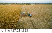 Купить «Уборка урожая кукурузы», фото № 27211823, снято 16 сентября 2017 г. (c) Арестов Андрей Павлович / Фотобанк Лори