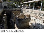 Купить «Руины древнего монетного двора на территории Херсонеса. Севастополь», фото № 27213995, снято 17 сентября 2014 г. (c) Free Wind / Фотобанк Лори